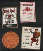 Collectible whisky whiskey bottle labels selection #004